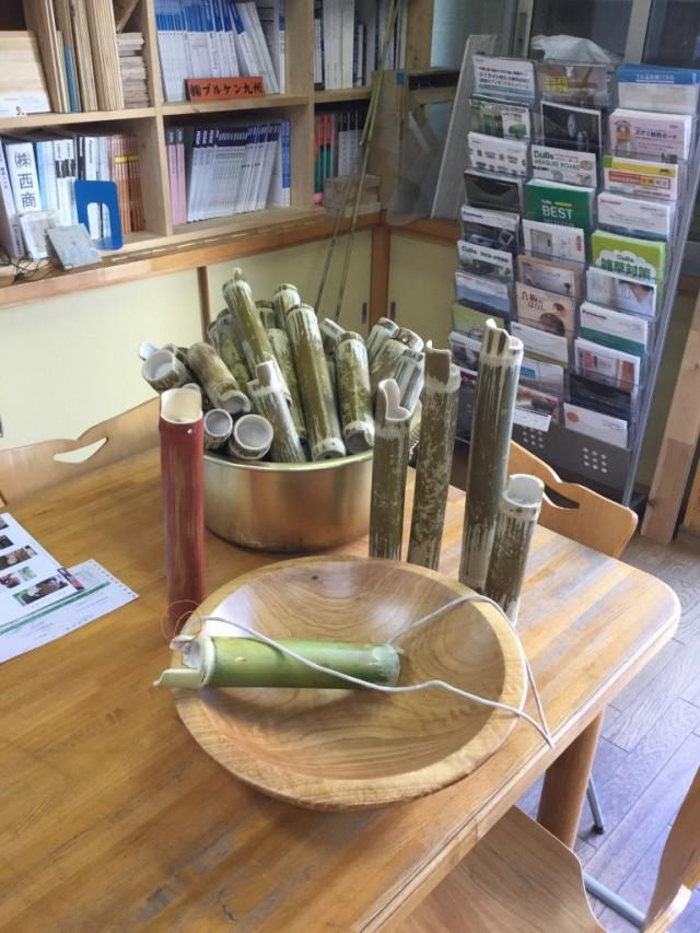初午祭竹筒